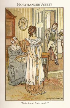 Charles Edmund Brock and his brother Henry Matthew Brock illustrated Jane Austen's books in the early years of the 20th century.