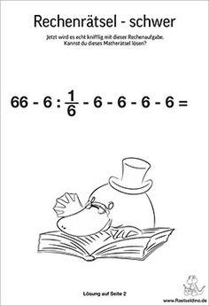 Zahlenrätsel und Matherätsel für Kinder   Raetseldino.de Picture Puzzles, Homeschooling, Word Search, Education, Words, Scavenger Hunt Kids, Math Education, Numeracy, Templates