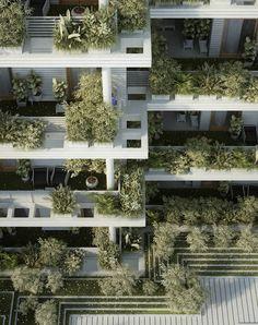 Green & Vegetal Sky Villa Residences in India – Fubiz Media