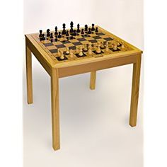 Sterling Games 3 in 1 (Chess/Checkers/Backgammon)Wooden Game Table