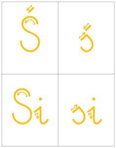KIERUNEK KREŚLENIA LITER - ZMIĘKCZENIA | BLOG EDUKACYJNY DLA DZIECI Company Logo, Classroom, Lettering, Logos, Speech Language Therapy, Class Room, Logo, Drawing Letters, Brush Lettering