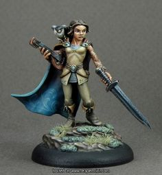 Shaelin Bard Reaper Miniatures Dark Heaven Legends RPG D&D Dungeon Wargames 28mm Miniatures, Reaper Miniatures, Fantasy Miniatures, Fantasy Paintings, Mini Paintings, Miniature Paintings, Fantasy Art, Dungeons And Dragons Figures, Minis
