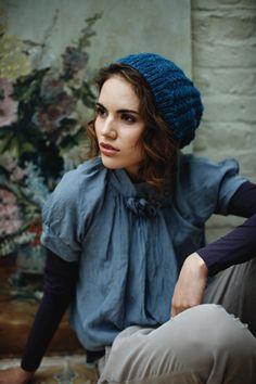 Like the shirt over a long sleeve....nice shades of blue too...my colour!