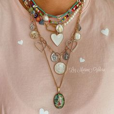 Cute Little Things, Jewelry Crafts, Boho Fashion, Jewerly, Gold Necklace, Chain Jewelry, Instagram, Handmade, Ootd