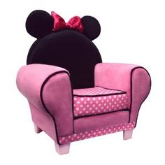 Minnie Mouse accent chair for toddler girl's room.