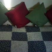 Free: Knitted Sofa Throw - via @Craftsy