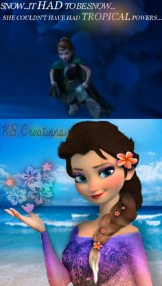 Frozen~Anna&Elsa~If Elsa had TROPICAL Powers...