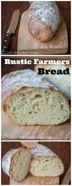 Rustic Farmer's Bread – Golden Crackly Crust with Chewy Crumb, a few basic ingredients is all it takes to make this beauty. Rustic Farmer's Bread – Golden Crackly Crust with Chewy Crumb, a few basic ingredients is all it takes to make this beauty. Pain Artisanal, Pain Pizza, Best Bread Recipe, Farm Bread Recipe, Chewy Bread Recipe, Tasty Recipe, Rustic Bread, Bread Machine Recipes, Bread Recipes With Yeast