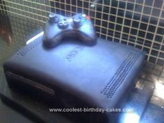 Homemade XBOX 360 Birthday Cake: I made this Homemade XBOX 360 Birthday Cake for my son Logan's 12th Birthday party. He and his friends are XBOX mad!!  I am fairly new to cake making -