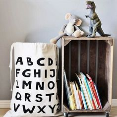 Canvas toy storage bags!  #tellkiddo link in profile