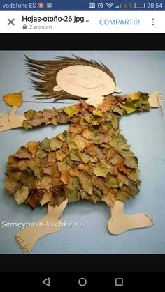 Leaf Crafts for Kids Kids Crafts, Leaf Crafts, Toddler Crafts, Preschool Crafts, Diy And Crafts, Craft Projects, Arts And Crafts, Paper Crafts, Recycled Art Projects