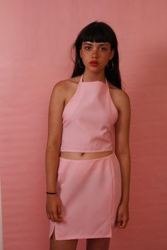 Pink halter neck top 〰 £18 〰 pink skirt 〰 £22 〰 BUY BOTH FOR £28 〰 to buy email me at jjcclothing@hotmail.com 〰 all payments go through paypal 〰 instagram @J.J.CCLOTHING