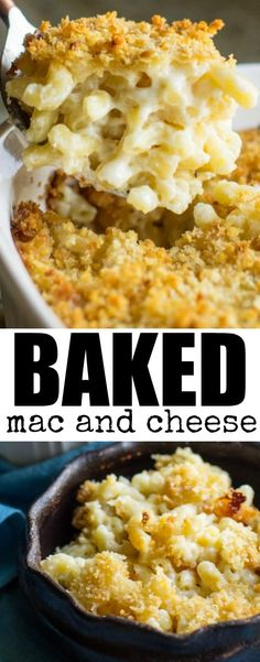 Super creamy Baked Mac and Cheese is already the ultimate comfort food, but an easy Garlic Butter Crumb topping puts it right over the top!
