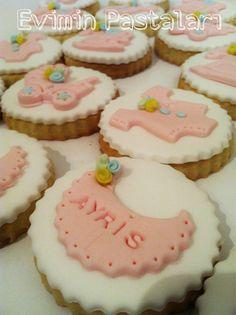 Bebek kurabiyesi, hoşgeldin bebek, butik kurabiye, pembe