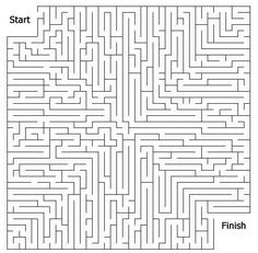 Printable Mazes - Print your Hard Maze General puzzle