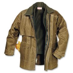 The one-piece cape provides no-seam, double coverage for your chest, upper back and arms. Four large front utility pockets, slotted pocket for instruments, unlined hand warmer pockets and an interior pocket. The heavy-duty, two-way brass zipper is backed up with a wind-guard in back and storm flap in front. Adjustable cuffs, tab-closure neck, 100% virgin wool-lined collar. Made in USA.