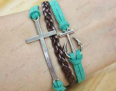 cheap bracelets anchor braceletsfriendship by sky2light on Etsy, $3.99