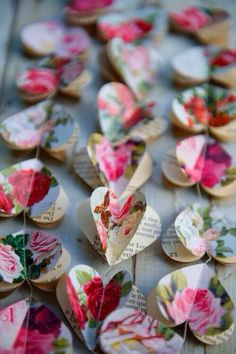 cute paper flower garlands