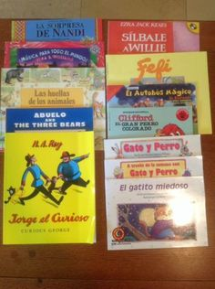 12 Picture Books in Spanish - Silbale A Willie, Clifford, Jorge el Curioso +