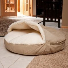 The Snoozer Cozy Dog Cave has a sherpa-lined pocket designed so that all pets can snuggle with the comfort of a soft cover on top of them as well. Cozy Cave Dog Bed, Dog Cave, Cozy Bed, Dog House For Sale, Beds For Sale, Perro Whippet, Very Small Dogs, Pet Beds, Dog Houses