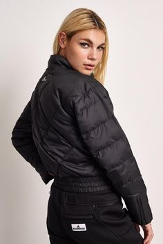 07592b28f22 adidas X Stella McCartney Essentials Padded Jacket Black - The Sports Edit  - 3