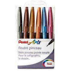 Pochette de 6 feutres pinceaux Sign Pen couleurs Artist