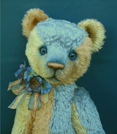 Marlene ~ 2008 by Michelle Lamb Teddy Bear Design, My Teddy Bear, Love Bear, Big Bear, Teddy Edwards, Charlie Bears, Vintage Teddy Bears, Bear Art, Soft Sculpture