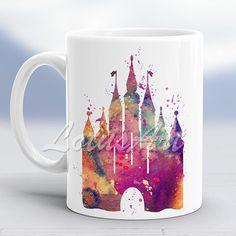 Castle Mug Castle Print Mug Watercolor Castle Kids Mug Princess Castle Mug Coffee Mug Personalized Mug Custom Mug Kids Gift Castle Cup