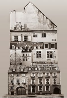 Large scale architectural collages by Anastasia Savinova. Each collage is meant … - Architecture Collage Architecture, Architecture Details, School Architecture, Beautiful Architecture, Anastasia, Photo D'architecture, Black And White Building, Genius Loci, Create Collage