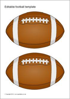 Editable American Football Template SparkleBox – Daily Sports News & Live Stream Fotball Channel Football Bulletin Boards, Football Locker Signs, Football Locker Decorations, Football Names, Football Crafts, Football Cheer, Free Football, Football Birthday, Football Boys
