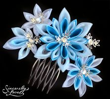 Frost Queen Kanzashi by SincerelyLove