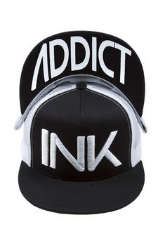 ae62ce36c12 InkAddict trucker cap with white mesh and black fabric