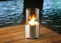 wave: cheminée nomade design au bi-éthanol