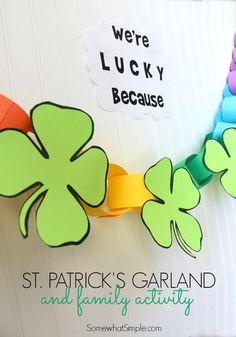 St Patricks Day Garland