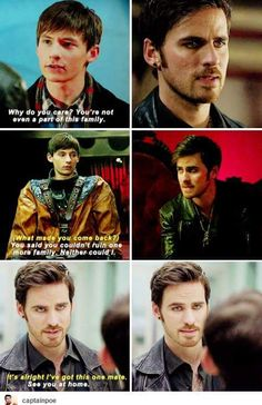 Henry may not have known it, but Hook is family. I ❤️ Captain Swan