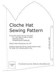Image result for cloche hat pattern