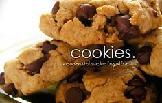 yes  - this is a really really good reasons to love being alive - who doesn't love choc chip cookies?!!