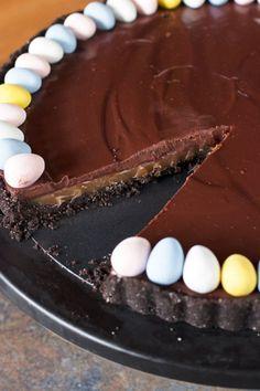 Chocolate Bourbon Caramel TartReally nice recipes. Every  Mein Blog: Alles rund um die Themen Genuss & Geschmack  Kochen Backen Braten Vorspeisen Hauptgerichte und Desserts # Hashtag