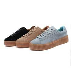 Fashion Women Chaussure Femme Rihanna Casual Shoes Leather shoes Bottomed Free Shipping(LHN-001-220)