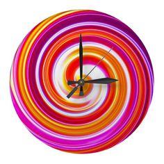 Lolipop Clock Too Wall Decor Clocks Contemporary Clocks, Wall Clock Design, Wall Clocks, 3 D, Kitchen Decor, Wall Decor, Decor Ideas, Future, House