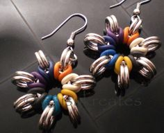 #chainmaille  Multi-Color Nova Earrings | Flickr - Photo Sharing!
