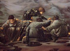 Edward Burne-Jones - PreRaphaelite Artist - Persée et les Grées