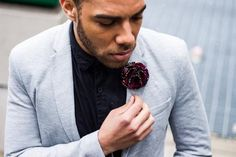 African Flower Lapel | How to Style | Men's Flower Lapels | Love Lakeri