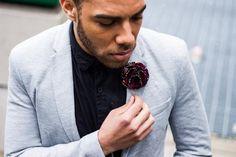 African Flower Lapel | How to Style | Men's Flower Lapels | Love Lakeri