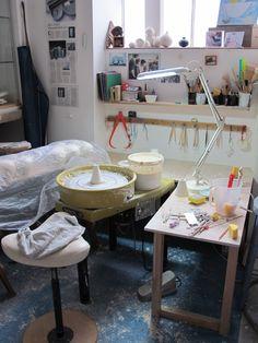Studio space, Chris Keenan for The New Craftsmen, Potter