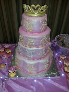 Sweet 16th Custom Cake for Princess Janelle! all homemade and from scratch!