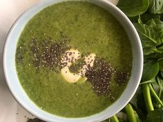 Broccoli, Leek and Spinach Soup