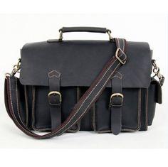 9ae02c62316d Aliexpress.com   Buy Burminsa Brand 100% Crazy Horse Leather Briefcase Men s  Genuine Leather Handbags 13inch Laptop Shoulder Bag Men Messenger Bags from  ...