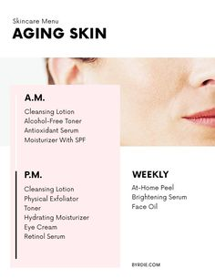 The best skincare products for aging skin
