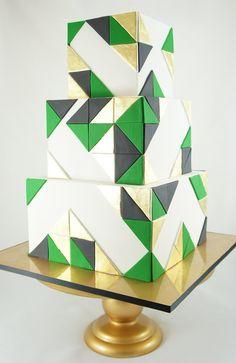 Love geometric cakes like this ♥